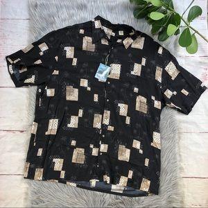 Hollis River Tropical Palm Print Shirt 2XLT
